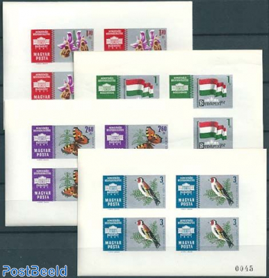 Stamp exposition 4 m/s imperforated
