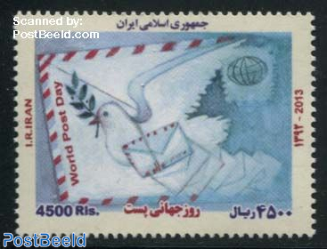 World Post Day 1v (with year 2013, issued 2014)