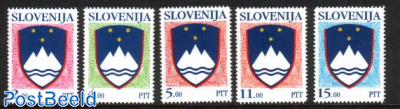 Definitives, state coat of arms 5v