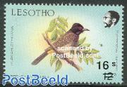 Bird overprint 1v