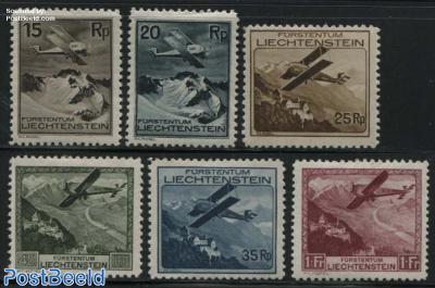 Airmail definitives 6v