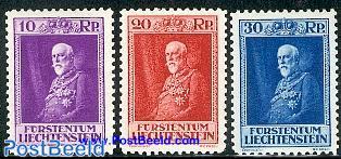 Franz I 80th anniversary 3v