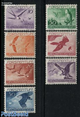 Airmail definitives, birds 7v