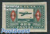 Airmail 1v, imperforated