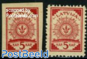 Definitives 2v (perforated & imperforated)