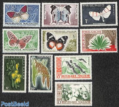 Butterflies, flora 10v
