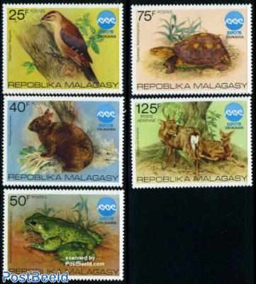 Expo 75, animals 5v