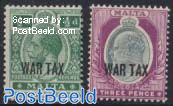WAR TAX Overprints 2v