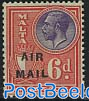 Airmail overprint 1v