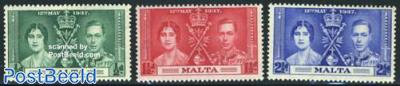 George VI coronation 3v