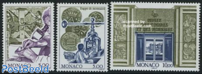 Stamp & coin museum 3v