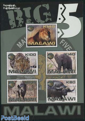 The big 5 (African animals) s/s