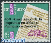 450 years printing 1v