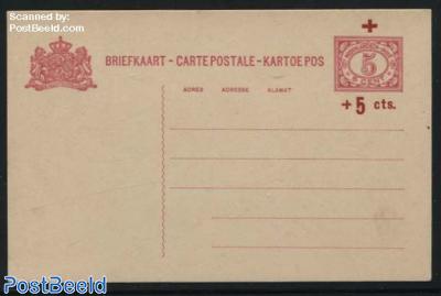 Postcard Red Cross 5+5c