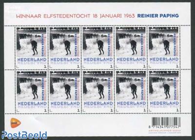 Elfstedentocht 1963, Reinier Paping minisheet