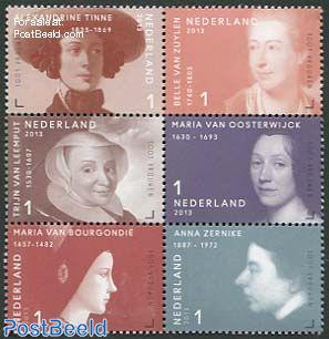 1001 Women in history 6v [++]