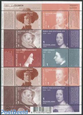1001 Women in history minisheet
