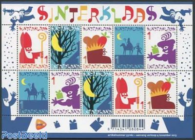 Sinterklaas minisheet (scented)