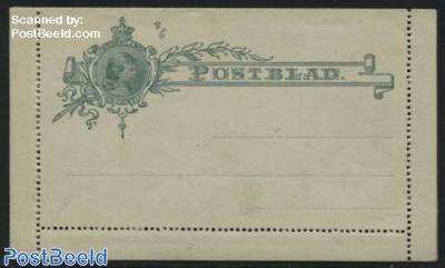 Card letter (Postblad) 3 cent green
