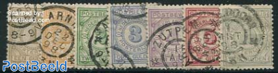 POSTBEWIJS stamps 7v