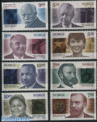 Peace Nobel prize winners 8v