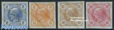 Newspaper stamps 4v with lack bands
