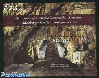 Adelsberger Cave, joint issue Slovenia s/s