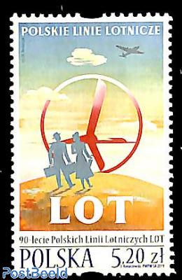 LOT, Polish airlines 90th anniversary 1v