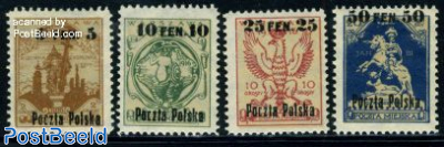 Definitives, overprints 4v