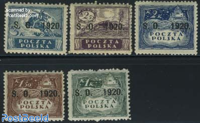 East Silesia, Definitives 5v