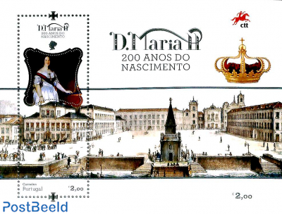 Queen D. Maria II 200th birthday s/s