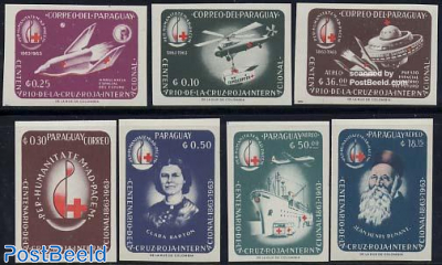 Red Cross 7v imperforated