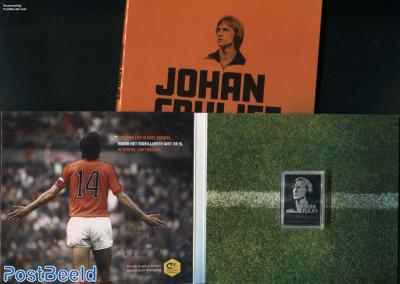 Johan Cruijff, Silver stamp 1v in special pack