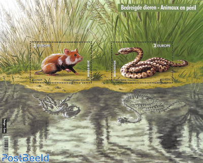 Europa, endangered animals s/s
