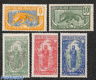 Central Congo, Definitives 5v