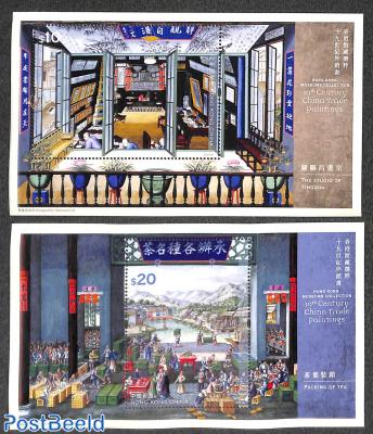 19th century China Trade paintings 2 s/s
