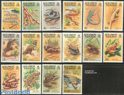Definitives, reptiles 16v