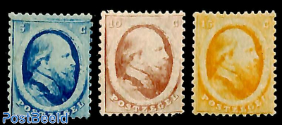 Willem III, 5c blue