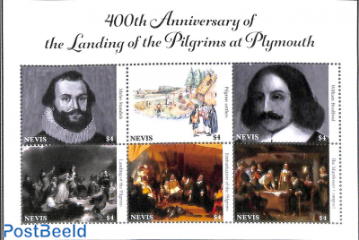 Arrival of Pilgrims in Plymouth 6v m/s