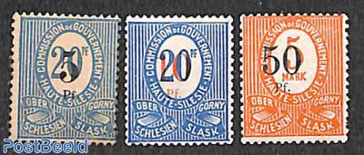 Upper Silesia, Overprints 3v