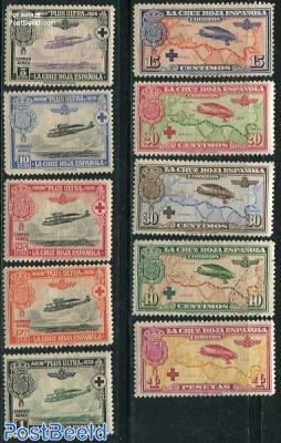 Overseas flight 10v, Red Cross