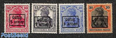 Gültig 9. Armee overprints 4v