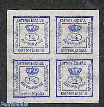 Newspaper stamp 4/4Cs, ultramarin