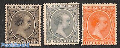 King Alphonse XIII 3v