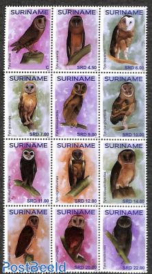Owls 12v, sheetlet