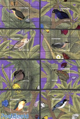 Birds & frog 8 s/s