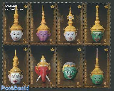 Khon masks 8v [+++]