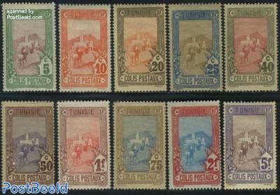 Parcel stamps 10v