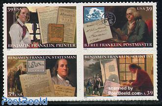 Benjamin Franklin 4v s-a