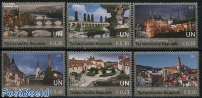 World Heritage Czech Republic 6v (from booklet)